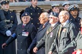 British Nuclear Tests Veterans Association  (Group D5, 30 members) during the Royal British Legion March Past on Remembrance Sunday at the Cenotaph, Whitehall, Westminster, London, 11 November 2018, 12:21.