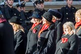 Army Widows Association  (Group D9, 17 members) during the Royal British Legion March Past on Remembrance Sunday at the Cenotaph, Whitehall, Westminster, London, 11 November 2018, 12:21.