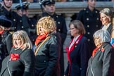 War Widow RAF (Group D10, 4 members) during the Royal British Legion March Past on Remembrance Sunday at the Cenotaph, Whitehall, Westminster, London, 11 November 2018, 12:21.