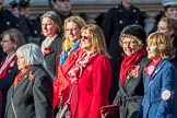 RAF Widows Association   (Group D11, 11 members) during the Royal British Legion March Past on Remembrance Sunday at the Cenotaph, Whitehall, Westminster, London, 11 November 2018, 12:21.