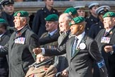 Commando Veterans Association  (Group D12, 42 members) during the Royal British Legion March Past on Remembrance Sunday at the Cenotaph, Whitehall, Westminster, London, 11 November 2018, 12:22.