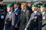 Commando Veterans Association  (Group D12, 42 members) during the Royal British Legion March Past on Remembrance Sunday at the Cenotaph, Whitehall, Westminster, London, 11 November 2018, 12:22..