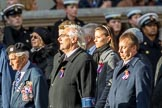Czechoslovak Legionaries Association  (Group D17, 20 members) during the Royal British Legion March Past on Remembrance Sunday at the Cenotaph, Whitehall, Westminster, London, 11 November 2018, 12:23.
