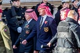 Trucial Oman Scouts Association  (Group D19, 20 members) during the Royal British Legion March Past on Remembrance Sunday at the Cenotaph, Whitehall, Westminster, London, 11 November 2018, 12:23.