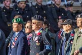 The Hong Kong Ex-Servicemen's Association  (UK Branch) (Group D22, 24 members) during the Royal British Legion March Past on Remembrance Sunday at the Cenotaph, Whitehall, Westminster, London, 11 November 2018, 12:24.