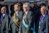 The Royal Antediluvian Order of Buffaloes (Group D24, 12 members) during the Royal British Legion March Past on Remembrance Sunday at the Cenotaph, Whitehall, Westminster, London, 11 November 2018, 12:24.
