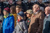 Children (and Families) of Far East Prisoners of War (Group M2, 59 members) during the Royal British Legion March Past on Remembrance Sunday at the Cenotaph, Whitehall, Westminster, London, 11 November 2018, 12:25.
