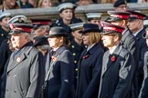 The Salvation Army (Group M6, 30 members) during the Royal British Legion March Past on Remembrance Sunday at the Cenotaph, Whitehall, Westminster, London, 11 November 2018, 12:25.