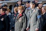 NAAFI EFI NCS Association (Group M7, 20 members) during the Royal British Legion March Past on Remembrance Sunday at the Cenotaph, Whitehall, Westminster, London, 11 November 2018, 12:26.