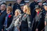 The Showmen's Guild of Great Britain (Group M18, 26 members) during the Royal British Legion March Past on Remembrance Sunday at the Cenotaph, Whitehall, Westminster, London, 11 November 2018, 12:27.