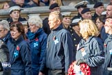 Blue Cross (Group M20, 18 members) during the Royal British Legion March Past on Remembrance Sunday at the Cenotaph, Whitehall, Westminster, London, 11 November 2018, 12:27.