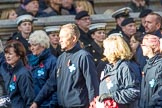 Blue Cross (Group M20, 18 members) during the Royal British Legion March Past on Remembrance Sunday at the Cenotaph, Whitehall, Westminster, London, 11 November 2018, 12:27..