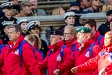 Haig Housing Trust (Group M23, 24 members) during the Royal British Legion March Past on Remembrance Sunday at the Cenotaph, Whitehall, Westminster, London, 11 November 2018, 12:27.