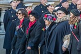 Romany & Traveller FHS (Group M34, 18 members) during the Royal British Legion March Past on Remembrance Sunday at the Cenotaph, Whitehall, Westminster, London, 11 November 2018, 12:28.