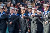 Sea Cadets Corps (Group M35, ?? members) during the Royal British Legion March Past on Remembrance Sunday at the Cenotaph, Whitehall, Westminster, London, 11 November 2018, 12:29.