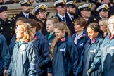 The Girls' Brigade England & Wales (Group M40, 16 members) during the Royal British Legion March Past on Remembrance Sunday at the Cenotaph, Whitehall, Westminster, London, 11 November 2018, 12:30.