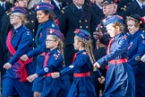 Church Lads' and Church Girls' Brigade (Group M41, 25 members) during the Royal British Legion March Past on Remembrance Sunday at the Cenotaph, Whitehall, Westminster, London, 11 November 2018, 12:30.