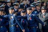 Metropolitan Police Volunteer Police Cadets (Group M42, 16 members) during the Royal British Legion March Past on Remembrance Sunday at the Cenotaph, Whitehall, Westminster, London, 11 November 2018, 12:31.