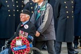 Polish Ex-Combatants Association Trust Fund (Group M44, 4 members) during the Royal British Legion March Past on Remembrance Sunday at the Cenotaph, Whitehall, Westminster, London, 11 November 2018, 12:31.