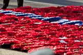A sea of wreaths at the Cenotaph after the the Royal British Legion March Past on Remembrance Sunday at the Cenotaph, Whitehall, Westminster, London, 11 November 2018, 12:33.