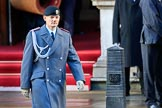 Lieutenant Colonel (German: Oberstleutnant) Christoph Kahnert, Equerry to HE The President of the Federal Republic of Germany, before the Remembrance Sunday Cenotaph Ceremony 2018 at Horse Guards Parade, Westminster, London, 11 November 2018, 09:42.