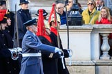 "The first group of the Armed Forces arrives on Whitehall before the Remembrance Sunday Cenotaph Ceremony 2018 at Horse Guards Parade, Westminster, London, 11 November 2018, 09:48. They might be the ""markers"" for their service detachments, followed by stretcher bearers."
