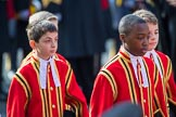 Children of the Chapel Royal during Remembrance Sunday Cenotaph Ceremony 2018 at Horse Guards Parade, Westminster, London, 11 November 2018, 10:54.
