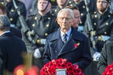 The Rt Hon The Lord Fowler, Lord Speaker, (on behalf of Parliament representing membersoftheHouseofLords)  with his wreath during the Remembrance Sunday Cenotaph Ceremony 2018 at Horse Guards Parade, Westminster, London, 11 November 2018, 10:55.