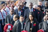 The High Commissioners are leaving the Foreign and Commonwealth Office during the Remembrance Sunday Cenotaph Ceremony 2018 at Horse Guards Parade, Westminster, London, 11 November 2018, 10:56.