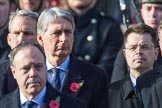 The Rt Hon Philip Hammond MP, (Chancellor of the Exchequer) during the Remembrance Sunday Cenotaph Ceremony 2018 at Horse Guards Parade, Westminster, London, 11 November 2018, 10:57.
