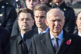 The Rt Hon Gavin Williamson CBE MP (Secretary of State for Defence) during the Remembrance Sunday Cenotaph Ceremony 2018 at Horse Guards Parade, Westminster, London, 11 November 2018, 10:57.