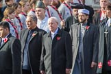The representatives of the faith communities during the Remembrance Sunday Cenotaph Ceremony 2018 at Horse Guards Parade, Westminster, London, 11 November 2018, 10:57.
