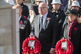 The High Commissioner for Australia, HE George Brandis, and The High Commissioner for Canada, HE Janice Charette, with their wreaths during Remembrance Sunday Cenotaph Ceremony 2018 at Horse Guards Parade, Westminster, London, 11 November 2018, 10:57.