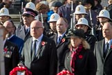 The representatives of the faith communities standing behind the High Commissioners, and in front of the Royal Marines, during Remembrance Sunday Cenotaph Ceremony 2018 at Horse Guards Parade, Westminster, London, 11 November 2018, 10:57.