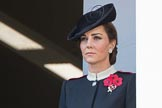 HRH The Duchess of Cambridge (Kate) on the balcony of the Foreign and Commonwealth Office during the Remembrance Sunday Cenotaph Ceremony 2018 at Horse Guards Parade, Westminster, London, 11 November 2018, 11:02.