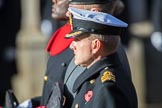 CommanderIainKearsley,Royal Navy, Equerry to HRHThePrinceofWales, during the Remembrance Sunday Cenotaph Ceremony 2018 at Horse Guards Parade, Westminster, London, 11 November 2018, 11:02.