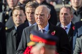 The Rt Hon Vince Cable MP (Leader of the Liberal Democrats) during the Remembrance Sunday Cenotaph Ceremony 2018 at Horse Guards Parade, Westminster, London, 11 November 2018, 11:03.