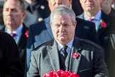 Mr Ian Blackford MP (the Westminster Scottish National Party Leader on the behalf of the SNP/the Plaid Cymru Parliamentary Group)   during the Remembrance Sunday Cenotaph Ceremony 2018 at Horse Guards Parade, Westminster, London, 11 November 2018, 11:03.