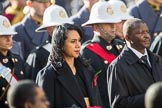 The High Commissioner of Tonga, Titilupe Fanetupouvava'u Tu'ivakano, and The High Commissioner of Eswatini during Remembrance Sunday Cenotaph Ceremony 2018 at Horse Guards Parade, Westminster, London, 11 November 2018, 11:03.