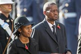 The Acting High Commissioner of Lesotho and the The Acting High Commissioner of Botswana during Remembrance Sunday Cenotaph Ceremony 2018 at Horse Guards Parade, Westminster, London, 11 November 2018, 11:03.