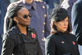 The High Commissioner of Guyana and the The High Commissioner of Singapore, Ms Foo Chi Hsia, during Remembrance Sunday Cenotaph Ceremony 2018 at Horse Guards Parade, Westminster, London, 11 November 2018, 11:03.