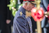 HRH The Prince of Wales (Prince Charles) during the Remembrance Sunday Cenotaph Ceremony 2018 at Horse Guards Parade, Westminster, London, 11 November 2018, 11:04.