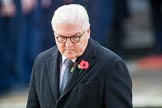 HE The President of the Federal Republic of Germany, Frank-Walter Steinmeier  turning away from the Cenotaph during the Remembrance Sunday Cenotaph Ceremony 2018 at Horse Guards Parade, Westminster, London, 11 November 2018, 11:05.