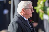 HE The President of the Federal Republic of Germany, Frank-Walter Steinmeier after laying his wreath at the Cenotaph during the Remembrance Sunday Cenotaph Ceremony 2018 at Horse Guards Parade, Westminster, London, 11 November 2018, 11:05.