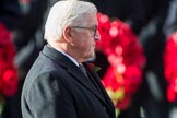 HE The President of the Federal Republic of Germany, Frank-Walter Steinmeier after laying his wreath at the Cenotaph during the during Remembrance Sunday Cenotaph Ceremony 2018 at Horse Guards Parade, Westminster, London, 11 November 2018, 11:05.