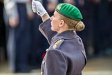 Captain Katherine Coulthard, Equerry to HRH The Duke of Edinburgh  during the Remembrance Sunday Cenotaph Ceremony 2018 at Horse Guards Parade, Westminster, London, 11 November 2018, 11:05.
