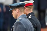 HRH The Duke of Cambridge (Prince William) and HRH The Duke of Sussex (Prince Harry) during Remembrance Sunday Cenotaph Ceremony 2018 at Horse Guards Parade, Westminster, London, 11 November 2018, 11:06.