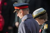 HRH The Duke of Kent (Prince Edward) and HRH The Princess Royal (Princess Anne) during the Remembrance Sunday Cenotaph Ceremony 2018 at Horse Guards Parade, Westminster, London, 11 November 2018, 11:06.
