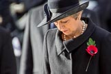The Rt Hon Theresa May MP, Prime Minister, after laying her wreath on behalf of the Government during the Remembrance Sunday Cenotaph Ceremony 2018 at Horse Guards Parade, Westminster, London, 11 November 2018, 11:07.
