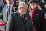 Mr Ian Blackford MP (the Westminster Scottish National Party Leader on the behalf of the SNP/the Plaid Cymru Parliamentary Group)  after laying his wreath during the Remembrance Sunday Cenotaph Ceremony 2018 at Horse Guards Parade, Westminster, London, 11 November 2018, 11:09.